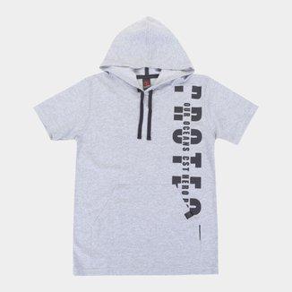 Camiseta Infantil Costão Long Street Capuz Masculina