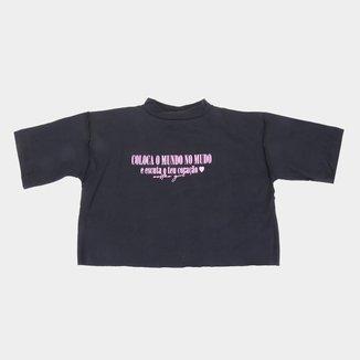 Camiseta Infantil Costão Poeta Feminina