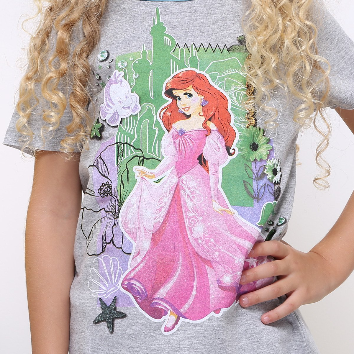 Ariel Camiseta Infantil Mescla Feminina Camiseta Infantil Disney SBaFg0q