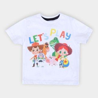 Camiseta Infantil Disney Let'S Play Toy Story Masculina