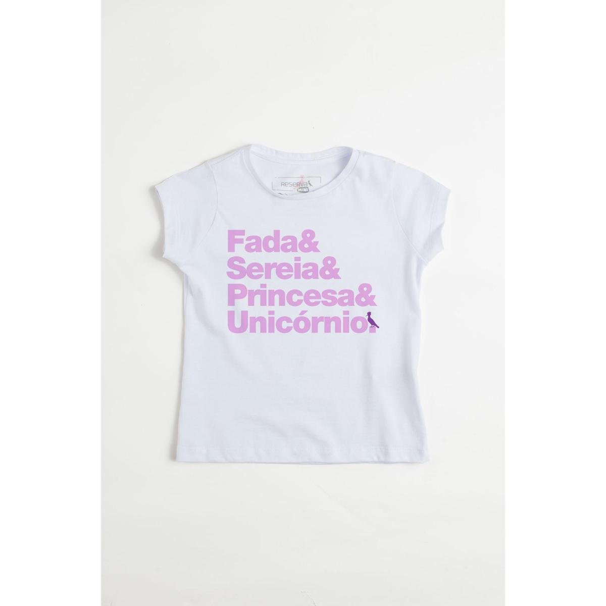 f3321ed9a1 Camiseta Infantil Fantasias Reserva Mini Feminina - Branco