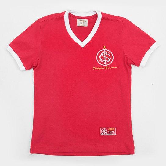 Camiseta Infantil Internacional Retro Mania 1975 - Vermelho