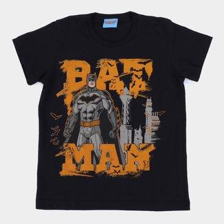 Camiseta Infantil Kamylus Batman Manga Curta Masculina