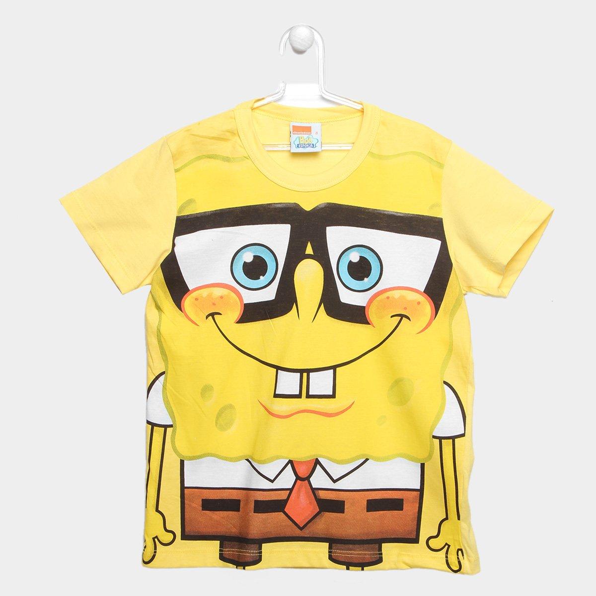 factor polla Lavar ventanas  Camiseta Infantil Kamylus Bob Esponja Masculina | Netshoes