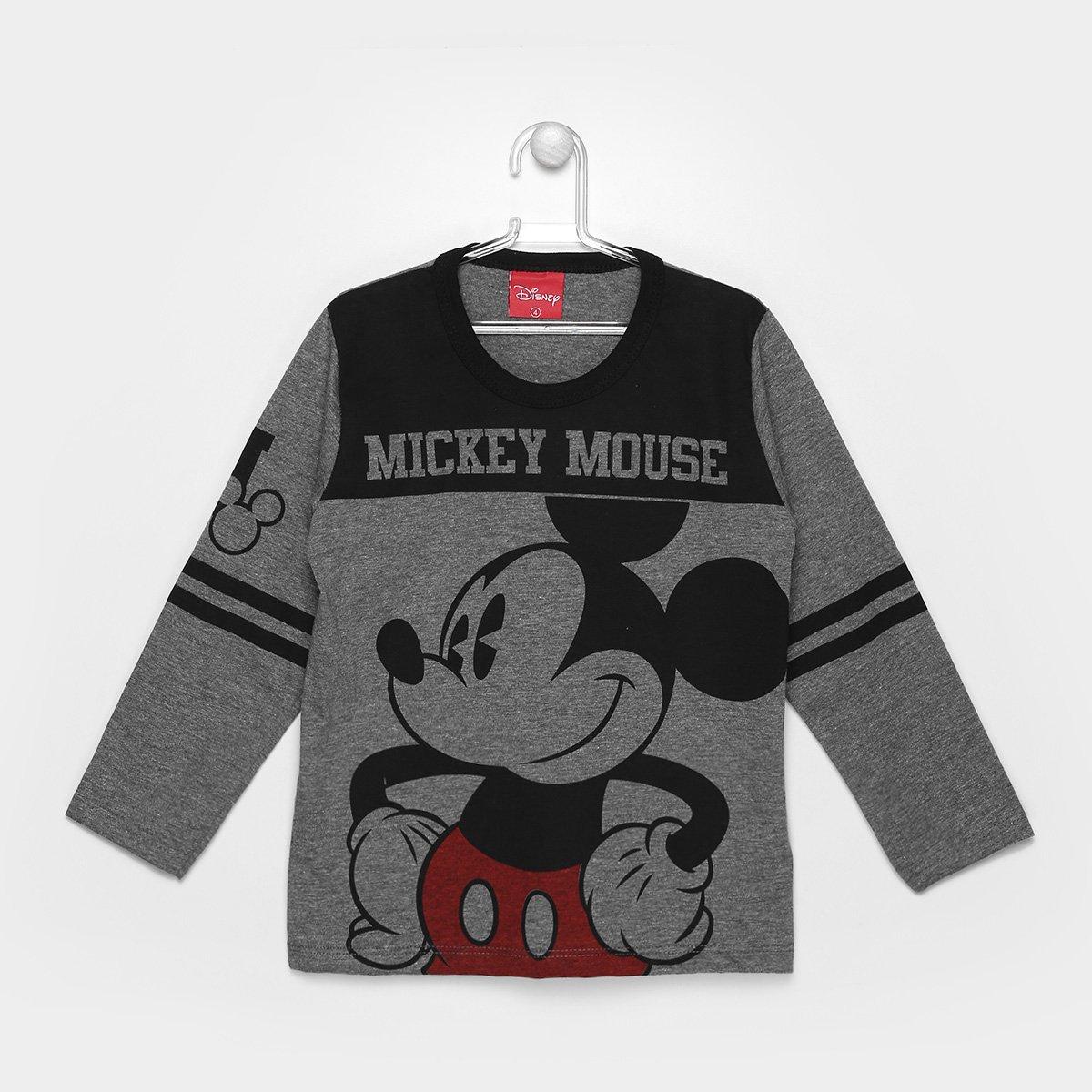 498bd5d51 Camiseta Infantil Kamylus Mickey Manga Longa Masculina - Compre Agora