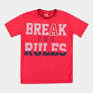 Camiseta Infantil Kyly Break The Rules Masculina