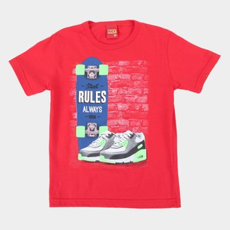 Camiseta Infantil Kyly Rules Always Masculina