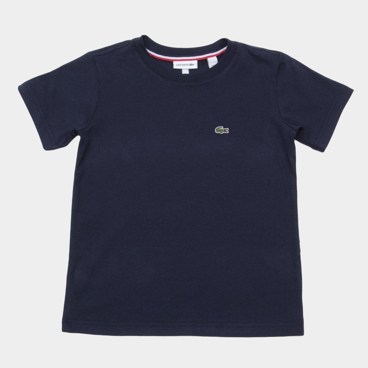 Camiseta Infantil Lacoste Logo Masculina - Marinho - Compre Agora ... ad251c67cb