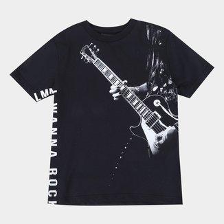 Camiseta Infantil Lemon Rock N' Roll Masculina