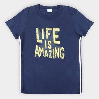 Camiseta Infantil Malwee Color Surf Masculina