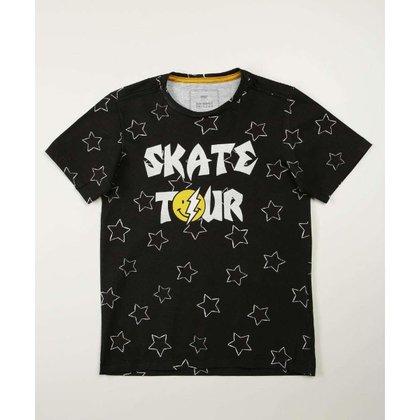 Camiseta Infantil Manga Curta Estampa Estrela MR Tam 4 A 10 - 10046343239
