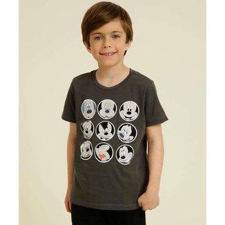 Camiseta Infantil Manga Curta Mickey Disney Tam 4 A 10 - 10048015455