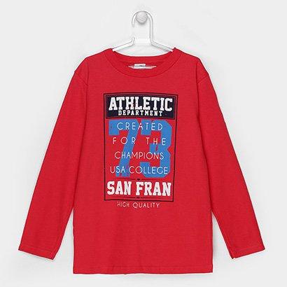 A Camiseta Infantil Marlan Masculina inspira o estilo esportivo para o visual dos meninos. Feita em algodão, com manga l...