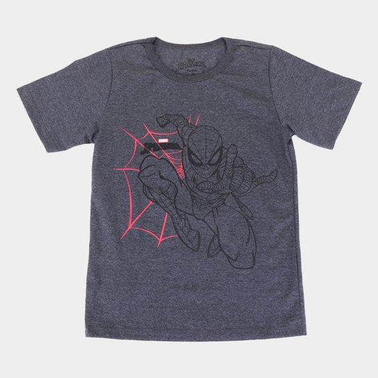 Camiseta Infantil Marvel Spider Man Masculina - Mescla