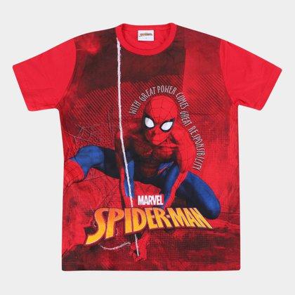 Camiseta Infantil Marvel Spider Masculina