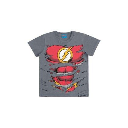 Camiseta Infantil Masculina Kamylus Liga da Justiça - CINZA - 10