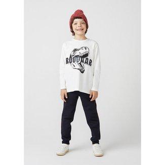 Camiseta Infantil Menino Manga Longa Com Paetê Reversível - 5D7LA02EN9