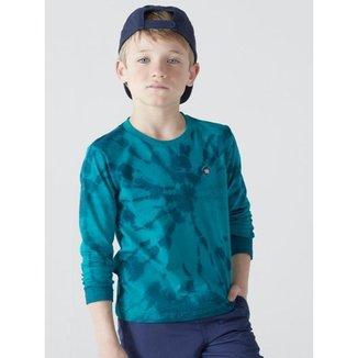 Camiseta Infantil Menino Mangas Longas, Tie Dye - Biogás