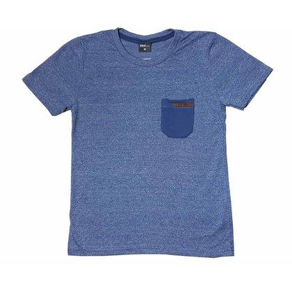 Camiseta Infantil Moulinê TMX Com Bolso Índigo
