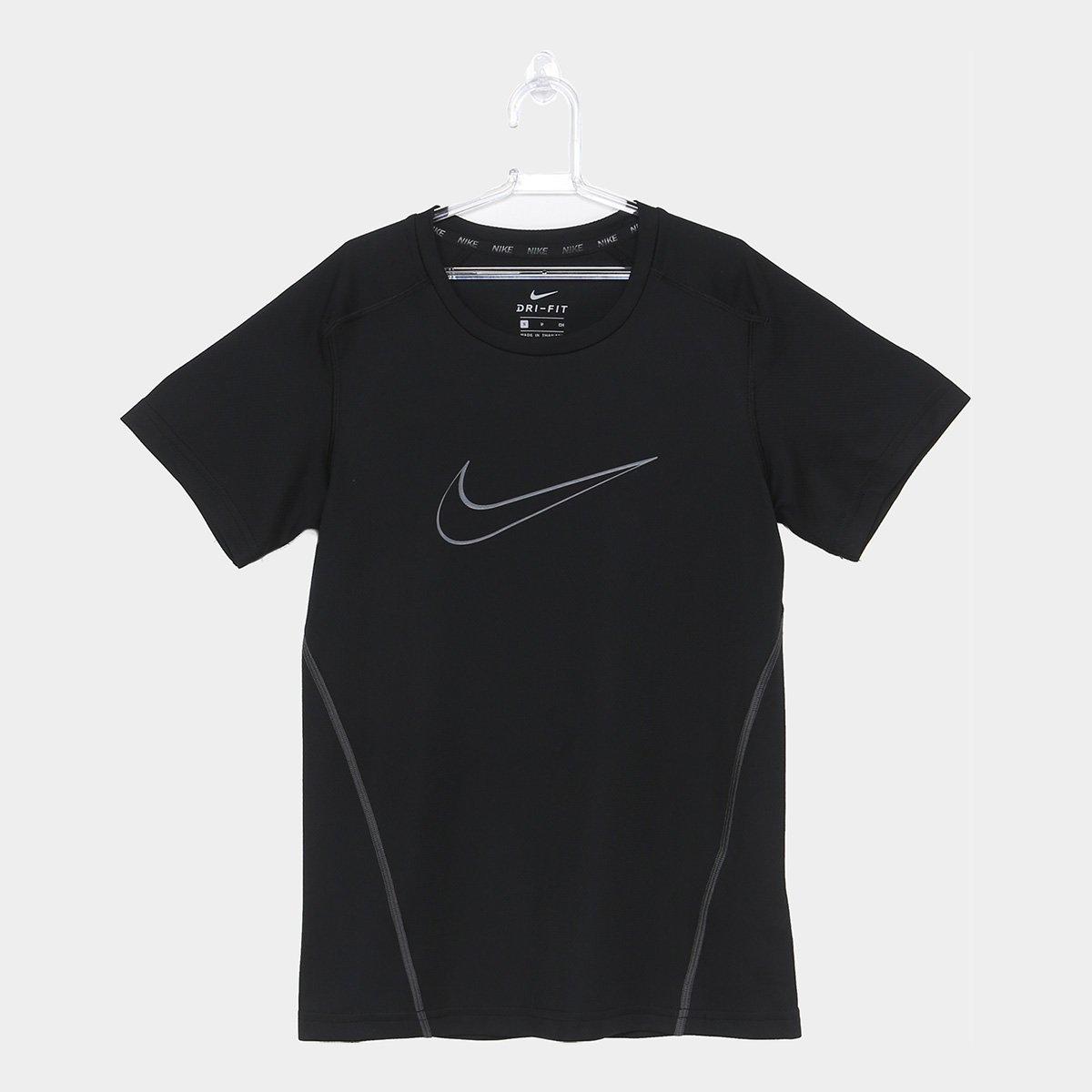 Camiseta Infantil Nike B Dri Fit Masculina - Preto e Cinza - Compre ... 8e980256253b0