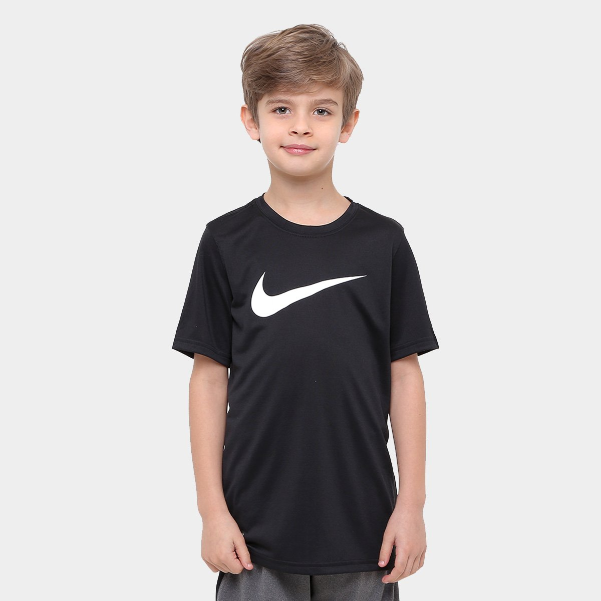 Camiseta Infantil Nike Dry Tee Ss Swoosh Solid Masculino - Compre ... d70f6efe882db