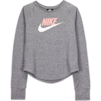Camiseta Infantil Nike Manga Longa Sportswear Jersey Feminina