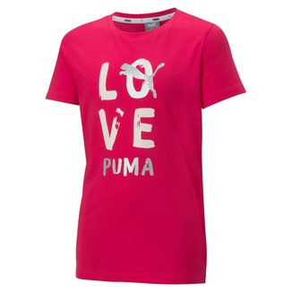 Camiseta Infantil Puma Alpha Feminina