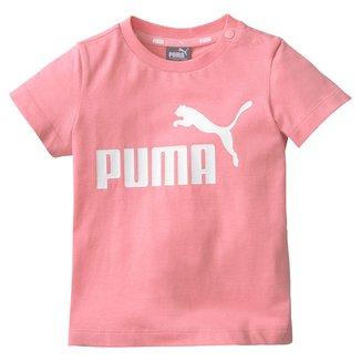 Camiseta Infantil Puma Nº 1 Logo Manga Curta