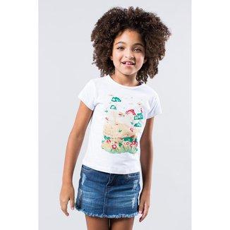 Camiseta Infantil Quem Reserva Mini Feminina