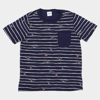 Camiseta Infantil Rovitex Listrada Masculina