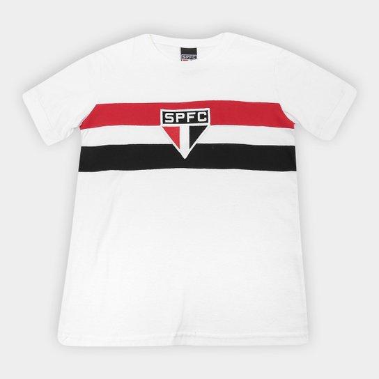 Camiseta Infantil São Paulo Retrô 1970 - Branco
