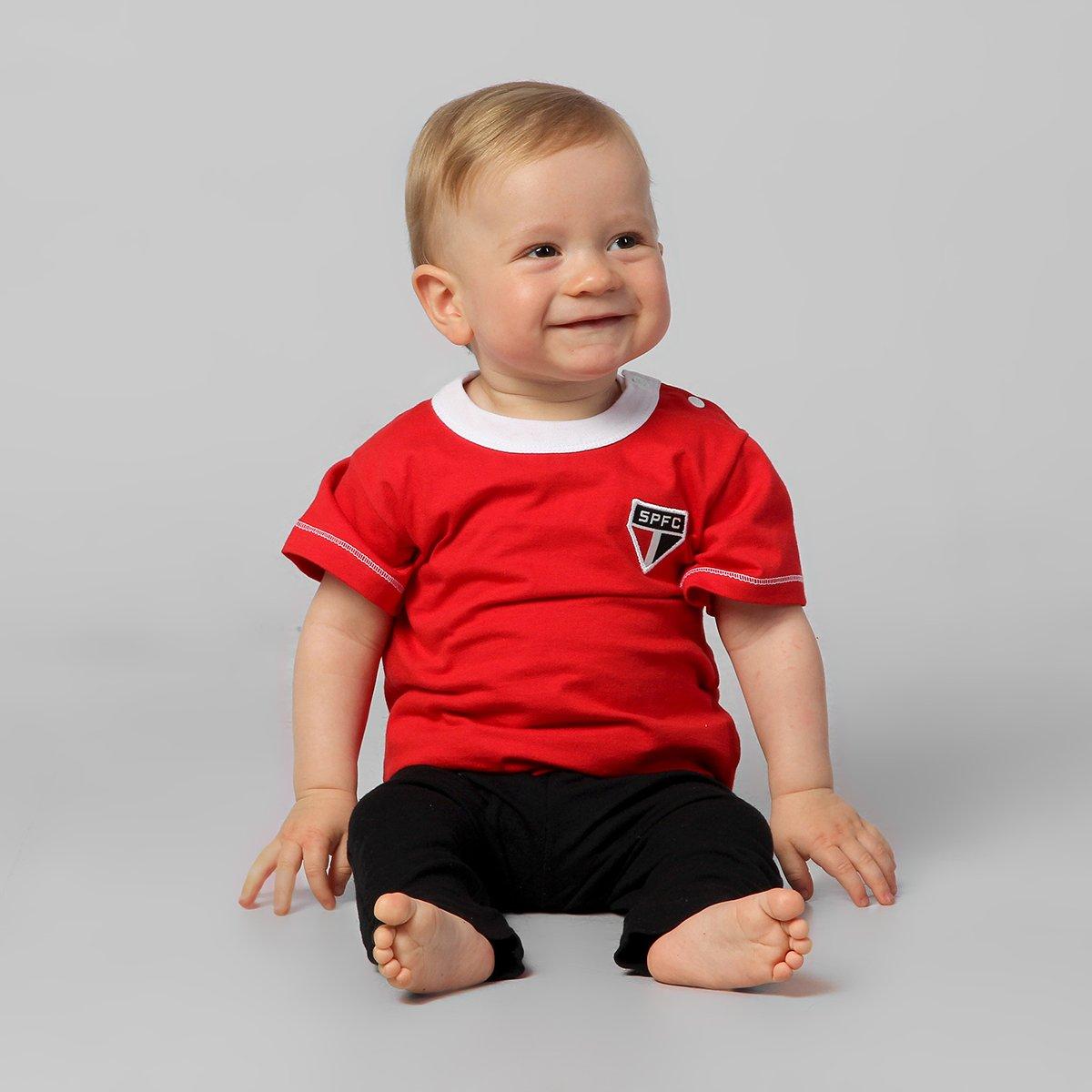 eae6bf828 Camiseta Infantil São Paulo - Vermelho | Netshoes