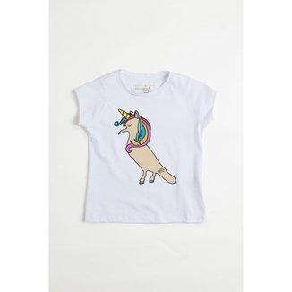 Camiseta Infantil Unicórnio Reserva Mini Feminina