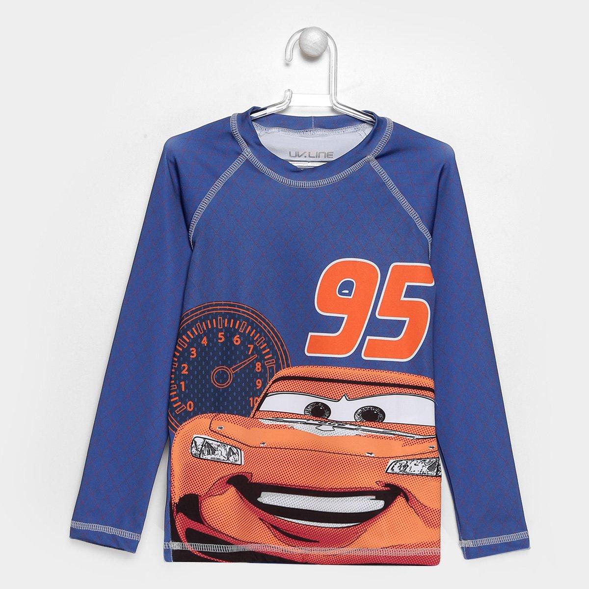 963a3aca8d14f Camiseta Infantil UV Line Acqua Carros Manga Longa - Compre Agora ...