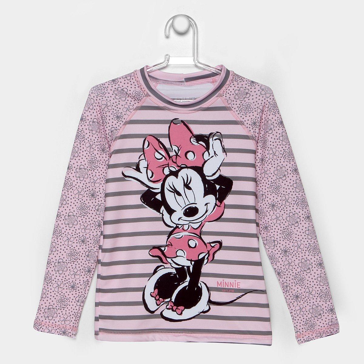 Camiseta Infantil Uv.Line Acqua Minnie Manga Longa Feminina - Compre Agora   01a622939cc57