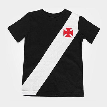 Camiseta Infantil Vasco da Gama Recorte - Unissex