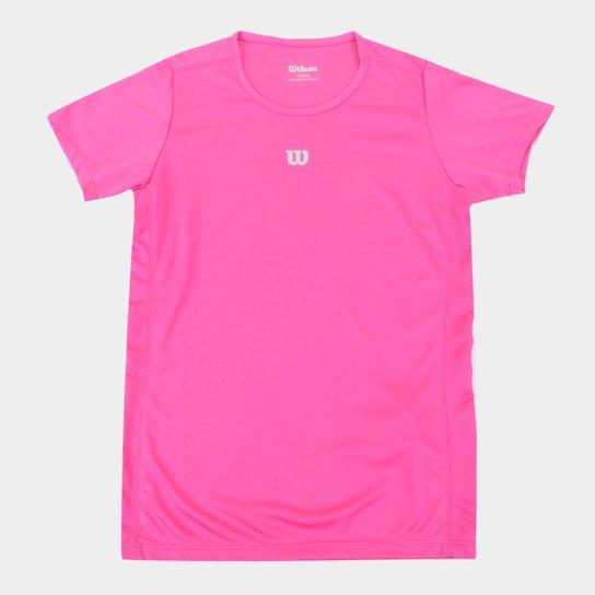 Camiseta Infantil Wilson Core Feminina - Pink
