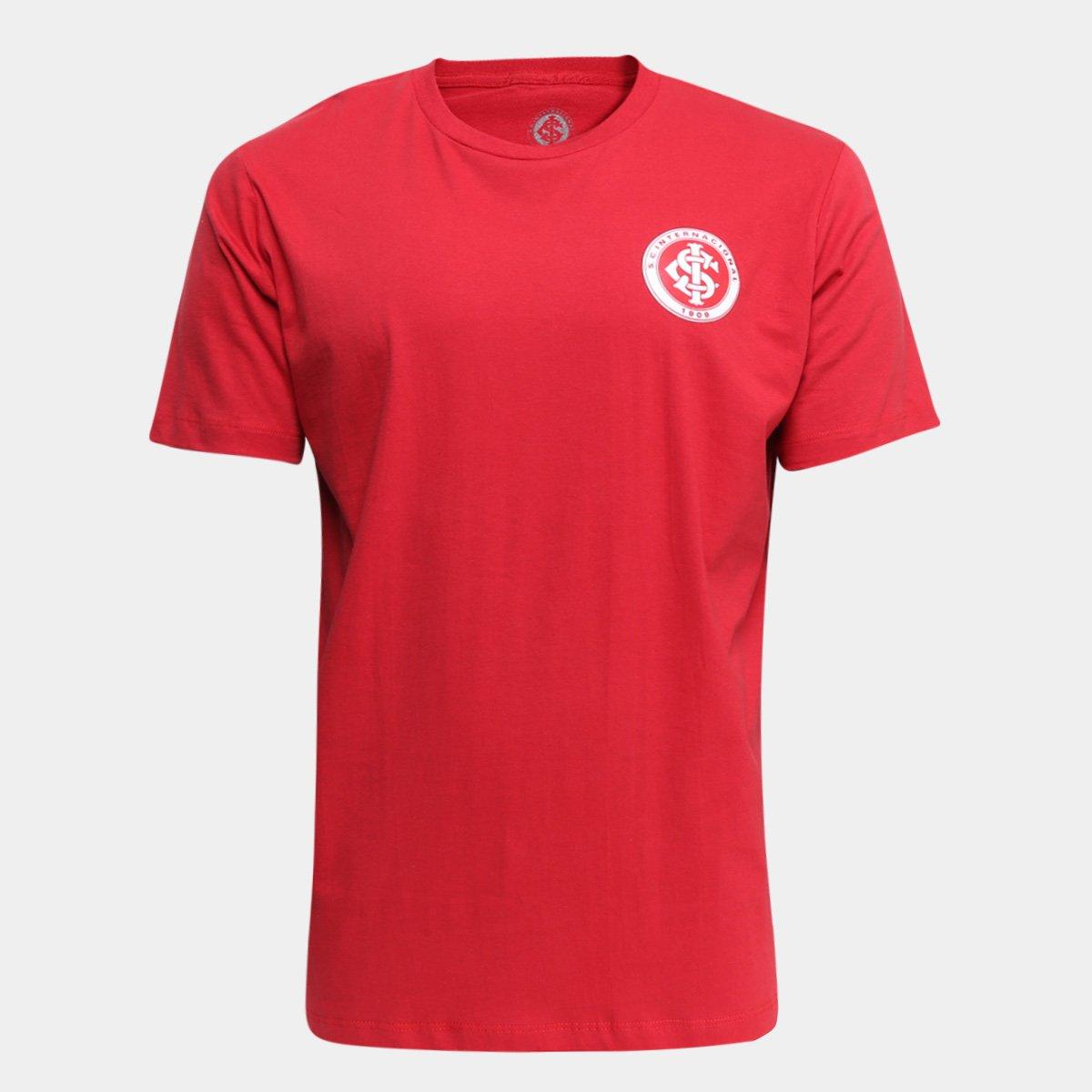 Camiseta Internacional Masculina - Vermelho