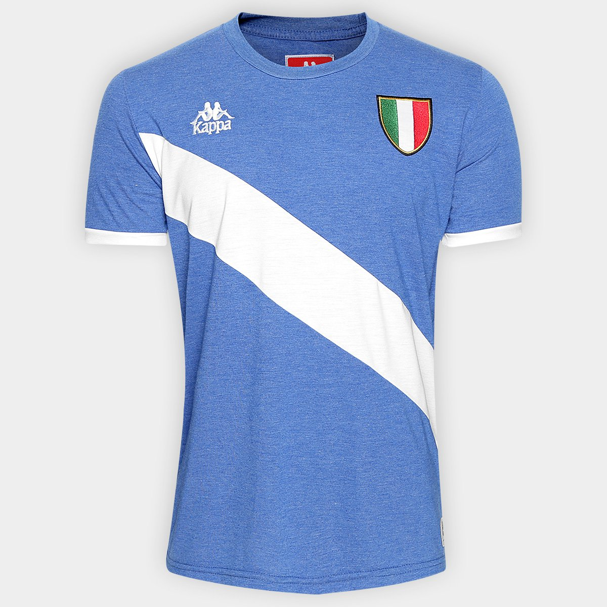Camiseta Itália Kappa Masculina - Compre Agora  4130c3df87393