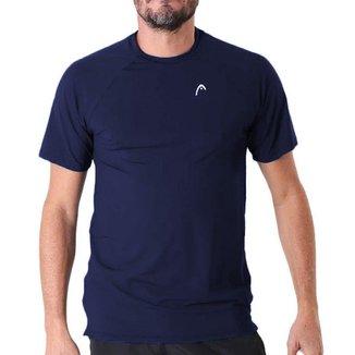 Camiseta Jaguard com Recorte Frontal Azul Marinho - Head