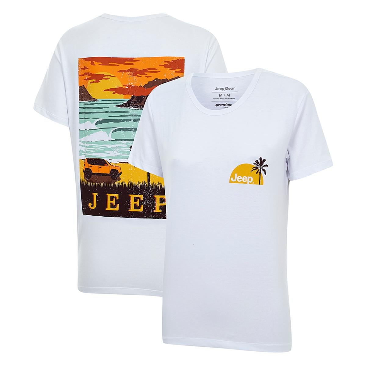 598e6c9a28 Camiseta JEEP Renegade Surf Feminina - Branco - Compre Agora