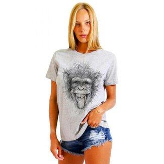 Camiseta Joss Basica Macaco Maluco Feminina