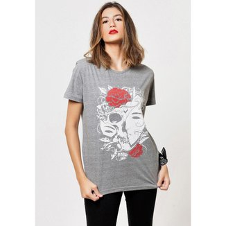 Camiseta Joss Basica Mascara Do Mal Feminina