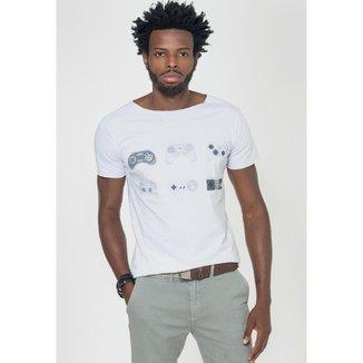 Camiseta Joss Corte à Fio VideoGame Branca