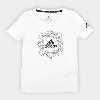 Camiseta Juvenil Adidas Gráfica Feminina