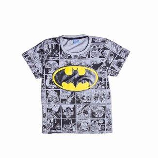 Camiseta Juvenil Batman Estampa História em Quadrinhos Masculino