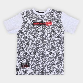 Camiseta Juvenil Ecko Logomania Full Print Masculina