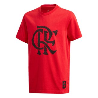 Camiseta Juvenil Flamengo Gráfica Adidas