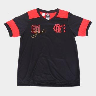 Camiseta Juvenil Flamengo Nova Zico Retrô