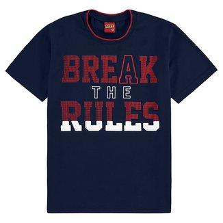 Camiseta Juvenil Kyly Break The Rules Masculina